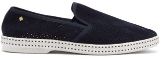 Rivieras Sultan Des Plages Suede Loafers - Mens - Blue