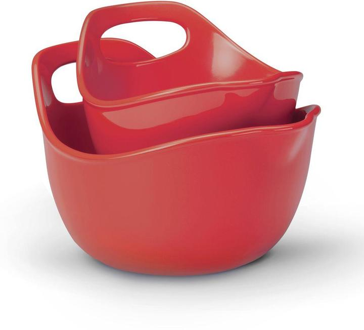 Rachael Ray 2-Piece Mixing Bowl Set in Red
