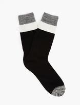 N/A Black Striped Cotton Socks