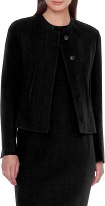 Akris Double Face Crepe Wool Jacket