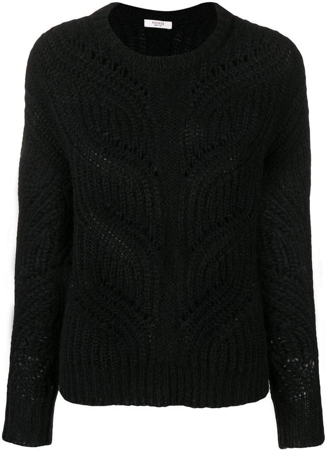 Peserico braid knit sweater