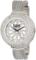 Burgi Women's BUR051SS Crystal Mesh Bracelet Watch
