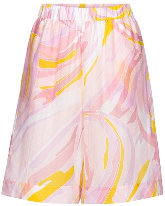 Emilio Pucci Beach Printed cotton and silk shorts