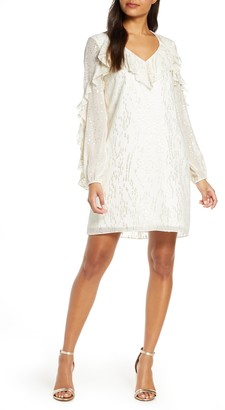 Lilly Pulitzer Belle Long Sleeve Fil Coupe Silk Dress