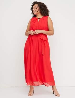 Lane Bryant Pleat-Neck Maxi Dress with Hardware