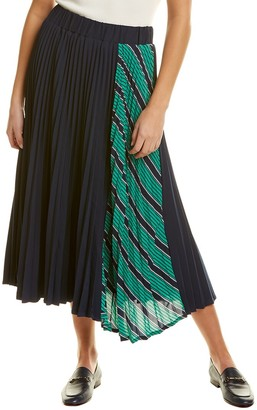Gracia Pencil Stripe Side Skirt