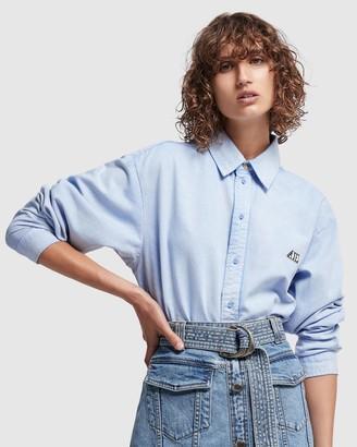 Aje Overture Denim Button-Down Shirt