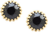 One Kings Lane Vintage Black Faceted Button Earrings