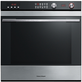 Fisher & Paykel OB60SL11DCPX1 Built-In Single Electric Oven, Stainless Steel / Black