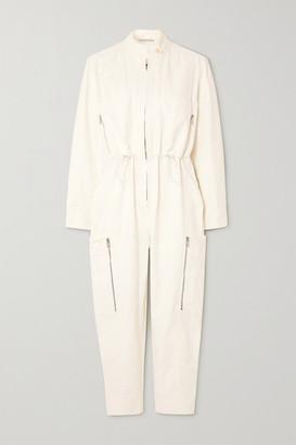 Stella McCartney Zip-detailed Twill Jumpsuit - White