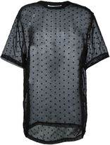 Givenchy star embroidered sheer T-shirt