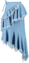 Marques Almeida Marques' Almeida Asymmetric frayed denim skirt