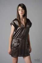 Filippa K Silk Satin Belt Dress