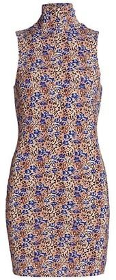 Ramy Brook Printed Liza Turtleneck Dress