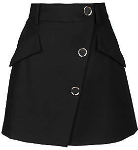 Maje Women's Jana Asymmetric Button A-Line Mini Skirt