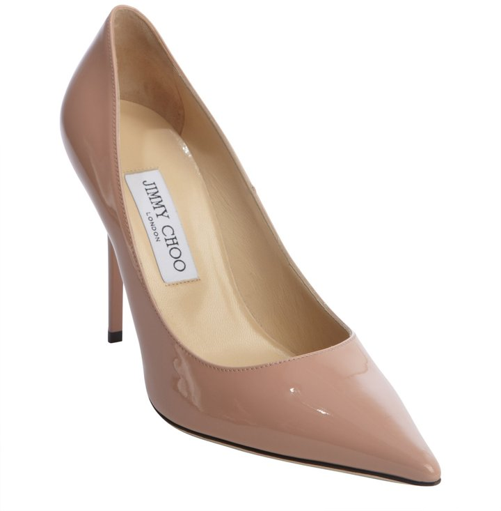 Jimmy Choo blush patent leather 'Abel' pointed toe pumps