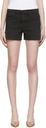 Frame Black Le Brigette Raw Edge Shorts