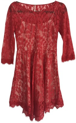 Free People Red Lace Dress for Women
