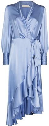 Zimmermann Wrap-Style Silk Midi Dress
