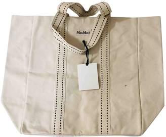 Max Mara Ecru Cloth Handbags