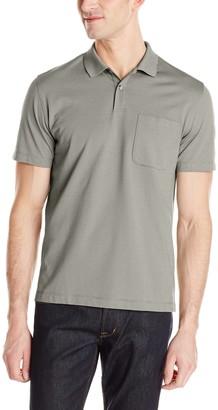 Van Heusen Men's Short Sleeve Feeder Stripe Polo Shirt