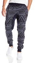 Southpole Men's Jogger Pant Marled Fleece with All Drop Crotch Color-Block