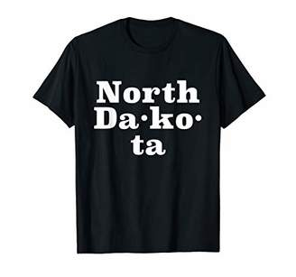 Dakota State of North Text T-Shirt