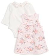 Little Me Infant Girl's Floral Print Dress & Bodysuit Set
