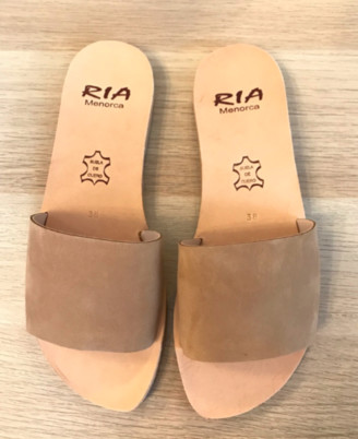 riA Sandal - 39 / caramel / Nubuk Leder
