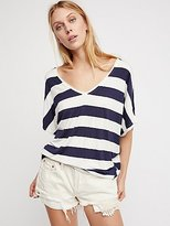 We The Free Striped Georgia Peach Tee by at Free People