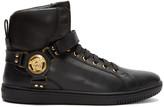 Versace Black Harness High-top Sneakers