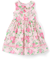 Laura Ashley Pink Floral Sleeveless A-Line Dress - Infant & Toddler