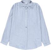 soeur Striped Suede Oversized Shirt