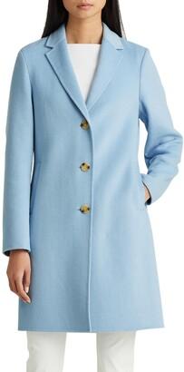 Lauren Ralph Lauren Double Face Wool Blend Reefer Coat