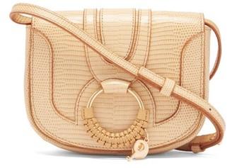 See by Chloe Hana Mini Lizard-effect Leather Cross-body Bag - Cream