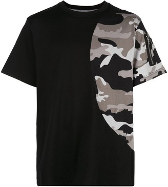 Mostly Heard Rarely Seen camouflage print detail T-shirt