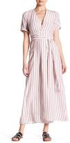 Frame Le Striped Silk Wrap Tie Dress