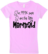 Micro Me Pink 'I Am 99% Sure I Am The Little Mermaid' Tee - Infant Toddler & Girls