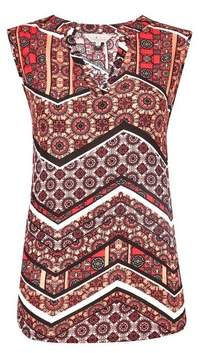 Dorothy Perkins Womens **Billie & Blossom Coral Tile Print Shell Top, Coral