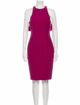 Cinq à Sept Crew Neck Knee-Length Dress Purple