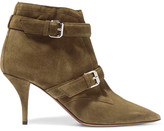 Tabitha Simmons Fitz Suede Ankle Boots - Army green