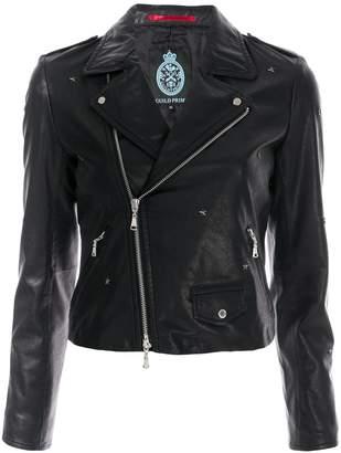 GUILD PRIME star-embellished moto jacket