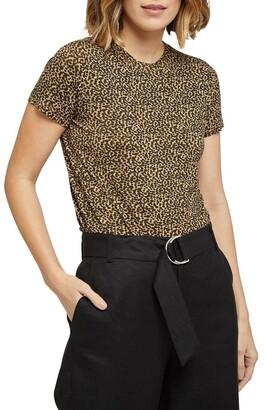 Oxford Dotty Animal Print T-shirt Brown