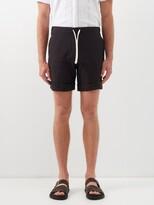 Thumbnail for your product : MARANÉ Slubbed Linen-poplin Shorts - Black
