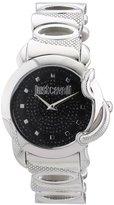 Just Cavalli Women's R7253576502 Eden Round Stainless Steel Black Pave Dial Watch
