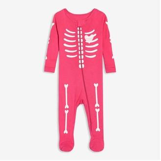 Joe Fresh Baby Girls' Glow-in-the-Dark Sleeper, Fuchsia (Size 0-3)