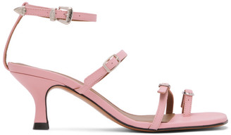 Abra SSENSE Exclusive Pink Buckle Heeled Sandals