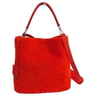 Fendi Anna Selleria Orange Leather Handbags