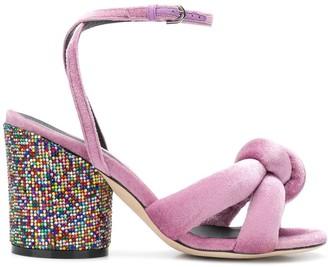 Marco De Vincenzo glitter heel sandals