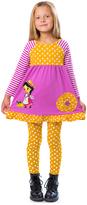 Mustard & Purple Sophia Dress & Leggings - Toddler & Girls